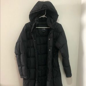 The North Face long down coat in black